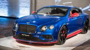 matte blue bentley 2917 bentley gt speed unveiling event motor1 com photos
