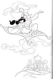 aladdin coloring page アラジン塗り絵 pinterest アラジン