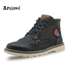 s boots with arch support apakowa autumn shoes pu leather boys boots with arch support