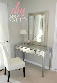 Silver Bedroom Vanity Bathroom Luxury Media Vanity Desk For Bedroom Or Bathroom