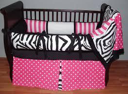 interesting pink and black crib bedding sets stunning home