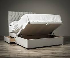 ottoman beds with mattress sueno half half ottoman bed exclusive ottoman beds fr sueno