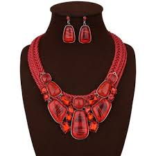 red necklace statement images Red statement necklace free shipping discount and cheap sale jpg