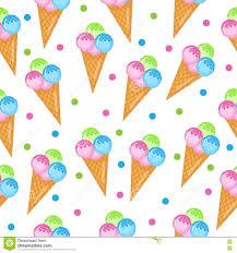 kids wallpaper colored ice cream seamless texture balls ice cream cone