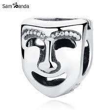 vintage masks authentic 100 925 sterling silver bead charm vintage masks