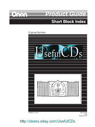 product guide short block index engines gensets 932 0109b