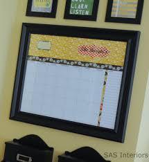 Wall Calendar Organizer Diy Personalized Dry Erase Calendar Jenna Burger