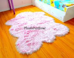 pink nursery rug baby pink luxury faux fur throw area rug