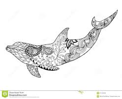 cute dolphin antistress coloring page stock illustration