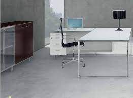 bureau verre blanc bureau direction en verre blanc ou couleur mobilier de bureau