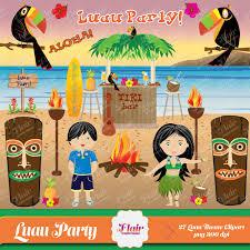 aloha luau party theme digital clipart hula hula boy