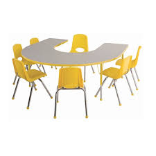 activity table and chairs ecr4kids shape activity table chair package horseshoe table w