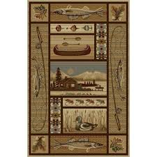 Fish Area Rug A Fly Fishing Theme Is Captured On These Mountain Lake Area Rugs