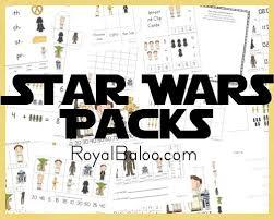 free star wars printable packs