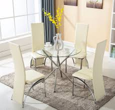 Round Glass Dining Table And Chairs Round Glass Dining Table And 4 Chairs Round Glass Dining Table