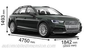 audi a4 length dimensions of audi cars showing length width and height