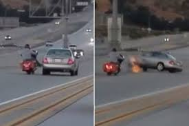 monster trucks crashes videos road rage u0027 incident triggers insane chain reaction highway crash