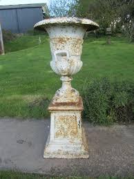 antiques atlas pair large victorian cast iron urns garden planter