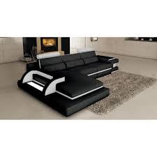 canapé d angle en cuir design canapé d angle cuir noir et blanc design avec lumière ibiza angle