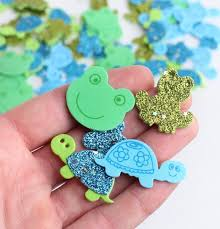 turtles and frogs craft foam stickers scrapbooking craft supplies