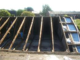 slate tile flat roof repair replacement contractors wigan