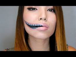 creepy stretched lips make up youtube
