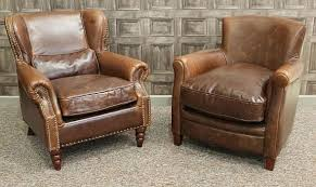 old leather armchairs a vintage style leather armchair brown aged leather