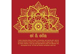 indian wedding card template indian wedding card template free vector stock