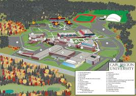 campus maps cape breton university google map