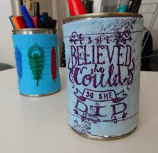 Diy Desk Organizer by Diy Desk Organizer From Up Cycled Embroidered Cans Inspiring How