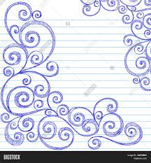 free printable christmas writing paper hand drawn sketchy doodles swirly border on lined notebook paper hand drawn sketchy doodles swirly border on lined notebook paper vector