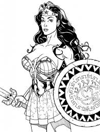 wonder woman coloring pages super heroes printable coloring pages