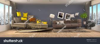 Bed In Living Room Zero Gravity Furniture Hovering Living Room Stock Illustration