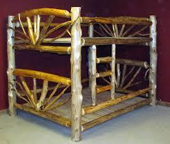 Log Beds  Barn Wood Furniture Rustic Barnwood And Log Furniture - Log bunk beds