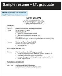 It Graduate Resume Sample by 6 Sample It Curriculum Vitae Free U0026 Premium Templates
