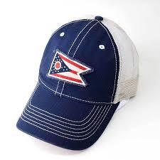 Ohios State Flag Ohio Flag Hat Trucker Blue U2013 Good River