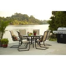 6 Chair Patio Dining Set Shop Garden Treasures Set Of 6 Hayden Island Steel Patio Dining