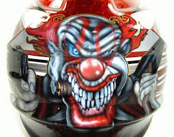 custom motocross helmet painting custom painted helmet gallery kandy glittered mad clown