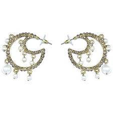 chandbali earrings online buy chand bali fashion earring online shopclues