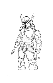 jango fett coloring page free download