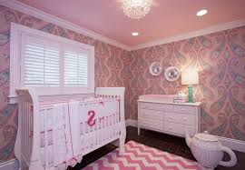 pink nursery ideas bedroom elegant baby girl nursery ideas with crystal chandelier in