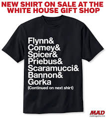 new shirt on sale at the white house gift shop mad magazine