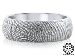 fingerprint wedding bands men s lovemark fingerprint wedding band