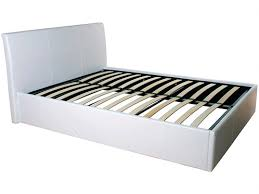 ottoman faux leather gas lift storage bed fta furnishing