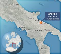 Apulia Italy Map by Italy Train Crash Leaves At Least 20 Dead Near Andria In Puglia