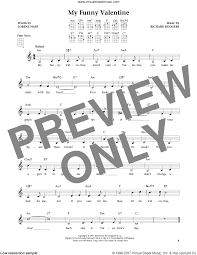 hart my funny valentine sheet music for ukulele