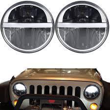 hummer jeep 2x 7inch round cree led headlight light hummer jeep wrangler cj tj