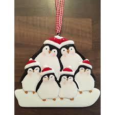 personalised penguin family christmas tree decoration u2013 caleli gifts