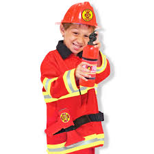 Fireman Costume Firefighter Costume Pretend Play Set For Kids