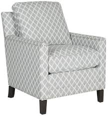Gray And White Accent Chair Buckler Armchair Accent Chairs Safavieh